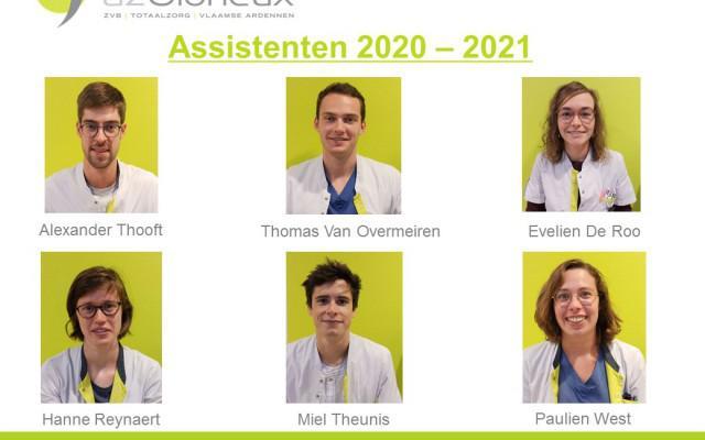 Voorstelling zes nieuwe assistenten
